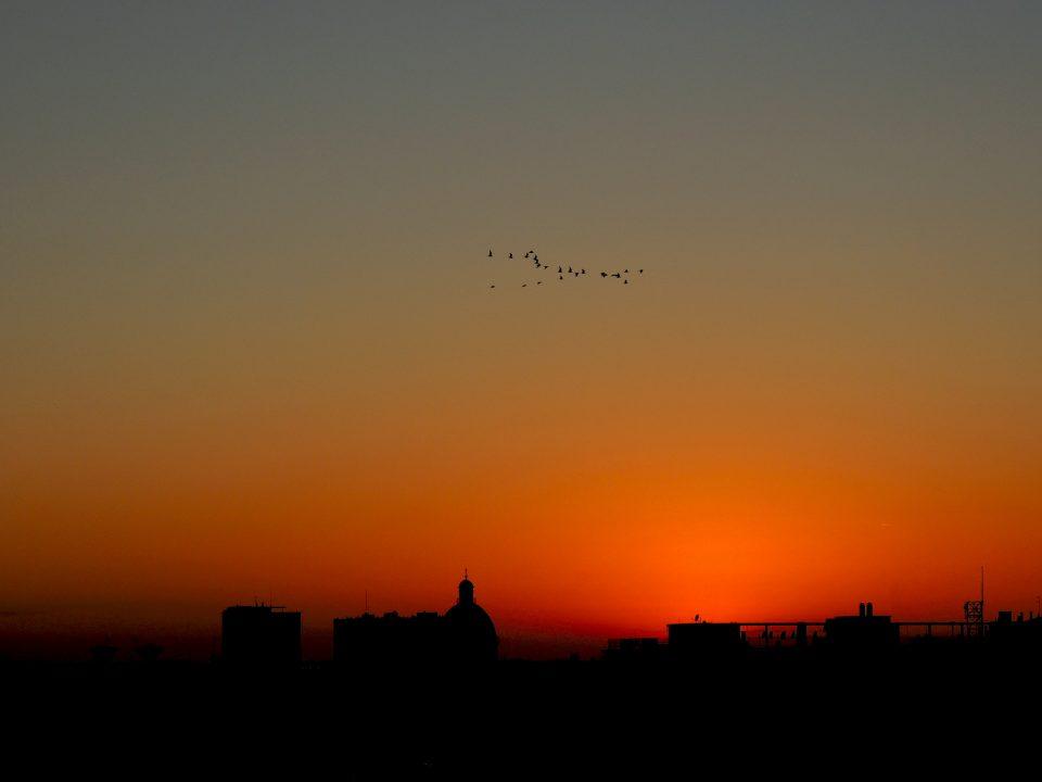 Mantova - tramonto dalla torre dell'orologio