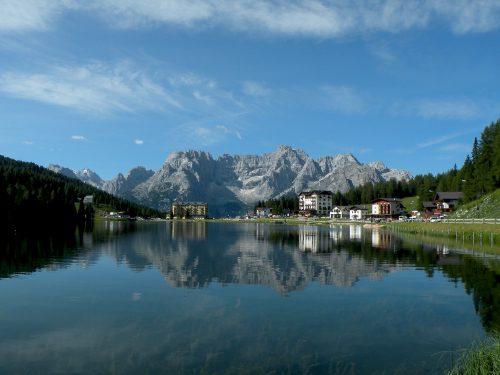 Gli specchi d'acqua nei pressi di Cortina d'Ampezzo