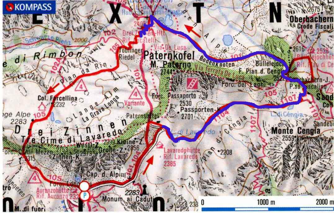 Cartina 3 Cime Di Lavaredo.Anello Attorno Alle Tre Cime Di Lavaredo Antonella Galardi
