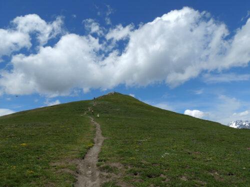 Punta Chaligne, proprio sopra la città di Aosta a 2608 metri di altitudine